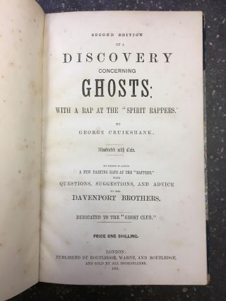 "A DISCOVERY CONCERNING GHOSTS: WITH A RAP AT THE ""SPIRIT RAPPERS."" George Cruikshank"