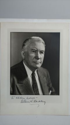 PHOTOGRAPH OF ALBEN BARKLEY INSCRIBED TO PHOTOGRAPHER. Abdon Daoud Ackad, Alben Barklay
