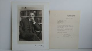SIGNED PHOTOGRAPH OF THOMAS DEWEY WITH TLS. Abdon Daoud Ackad