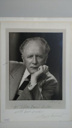 PHOTOGRAPH OF HANS KINDLER INSCRIBED TO PHOTOGRAPHER. Abdon Daoud Ackad