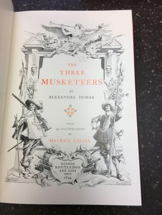 THE THREE MUSKETEERS [TWO VOLUMES]