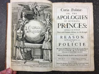 CURIA POLITIAE: OR, THE APOLOGIES OF SEVERAL PRINCES: JUSTIFYING TO THE WORLD THEIR MOST EMINENT...