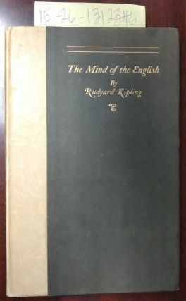 The Mind of the English [speech delivered at the meeting of The Royal Society of St. George,...