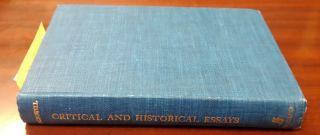 Critical and Historical Essays. Edward MacDowell, W. J. Baltzell