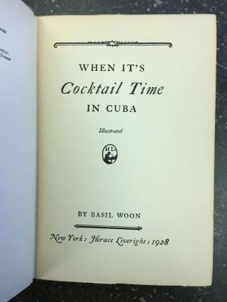 WHEN IT'S COCKTAIL TIME IN CUBA