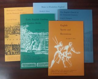 Folger Booklets on Tudor and Stuart Civilization [5 volumes] (titles: English Sports and...
