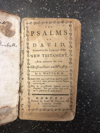 THE PSALMS OF DAVID [TOGETHER WITH] HYMNS AND SPIRITUAL SONGS