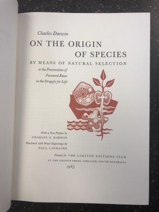 ON THE ORIGIN OF SPECIES, BY MEANS OF NATURAL SELECTION. Charles Darwin