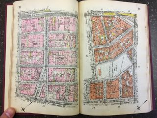 MINIATURE ATLAS OF THE BOROUGH OF MANHATTAN IN ONE VOLUME. E. Belcher Hyde
