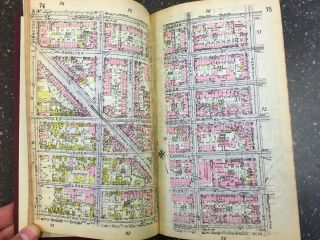 MINIATURE ATLAS OF THE BOROUGH OF BROOKLYN [VOLUME ONE ONLY]. E. Belcher Hyde