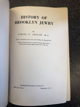 HISTORY OF BROOKLYN JEWRY