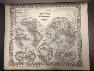 MITCHELL'S NEW GENERAL ATLAS. Samuel Augustus Mitchell