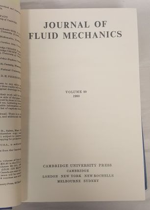 Journal of Fluid Mechanics Volume 99 Parts 1-4