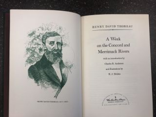 A WEEK ON THE CONCORD AND MERRIMACK RIVERS. Henry David Thoreau