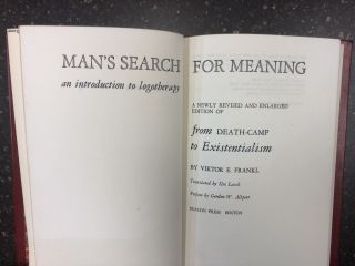 MAN'S SEARCH FOR MEANING. Viktor E. Frankl, Ilse Lasch