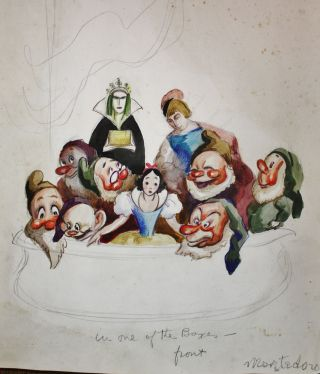 OVER 200 ORIGINAL DRAWINGS AND PAINTINGS BY SET AND COSTUME DESIGNER MARCO MONTEDORO (1887-1947)