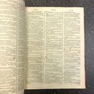 A DICTIONARY OF THE ENGLISH LANGUAGE: IN WHICH THE WORDS ARE DEDUCED FROM THEIR ORIGINALS, AND ILLUSTRATED BY DIFFERENT SIGNIFICATIONS BY EXAMPLES FROM THE BEST WRITERS. TO WHICH IS PREFIXED, A HISTORY OF THE LANGUAGE, AND AN ENGLISH GRAMMAR [TWO VOLUMES]