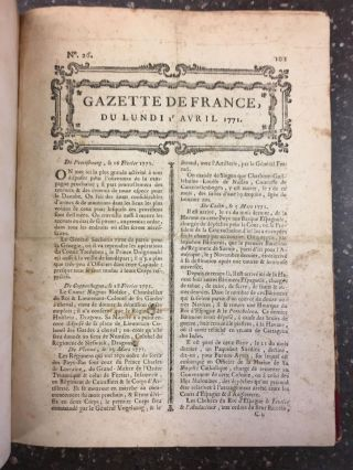GAZETTE DE FRANCE [18 ISSUES