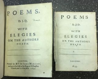 POEMS, BY J. D. WITH ELEGIES ON THE AUTHORS DEATH.