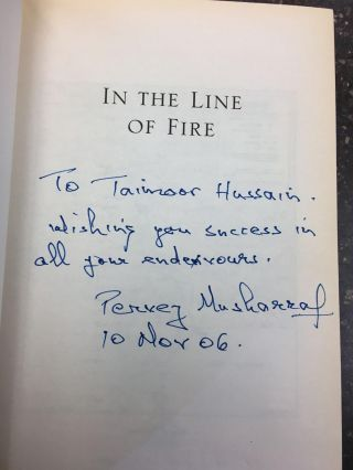 IN THE LINE OF FIRE [SIGNED]. Pervez Musharraf