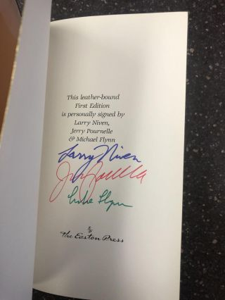 FALLEN ANGELS [SIGNED]. Larry Niven, Jerry Pournelle, Michael Flynn