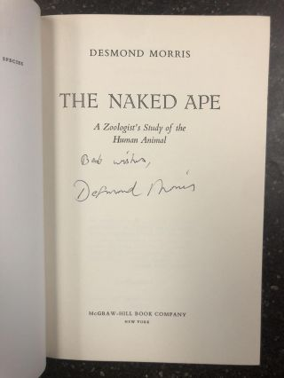 THE NAKED APE [Signed]