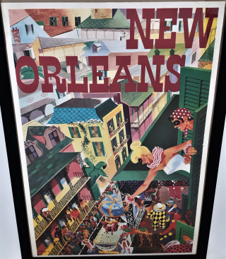 New Orleans Travel Poster. B. Verdier