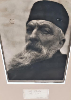 Photograph of Auguste Rodin with Rodin's Autograph