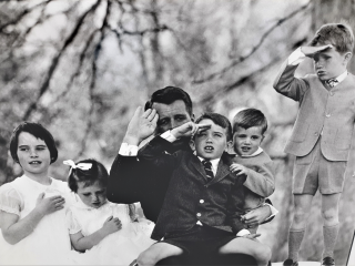 Robert Kennedy family at Hickory Hill. Jacques Lowe, photographer