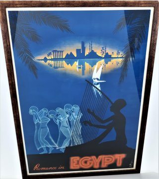 Romance in Egypt Travel Poster. M. Azmy