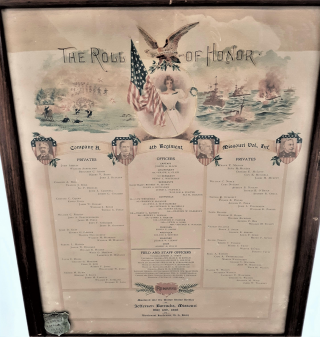 Spanish-American War Roll of Honor