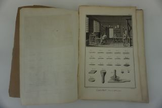 Diderot Encyclopédie: Manufacture des Glaces and Lunettier