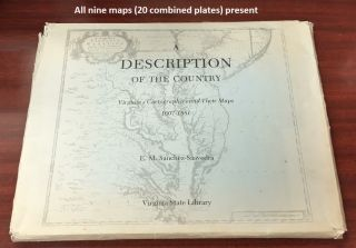 A Description of the Country: Virginia's Cartographers and Their Maps, 1607-1881. E. M....