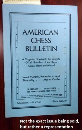 AMERICAN CHESS BULLETIN. VOL. 29, NO. 8, NOVEMBER 1932