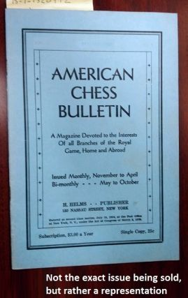 AMERICAN CHESS BULLETIN. VOL. 33, NO. 8, NOVEMBER-DECEMBER 1936