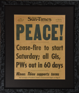 Vietnam Cease-fire Announcement : Chicago Sun-Times