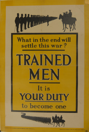 Trained Men It Is Your Duty Poster