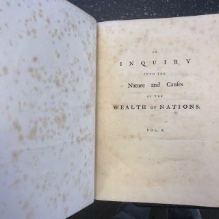 AN INQUIRY INTO THE NATURE AND CAUSES OF THE WEALTH OF NATIONS. [TWO VOLUMES]