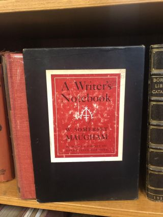 A WRITER'S NOTEBOOK [SIGNED]. W. Somerset Maugham