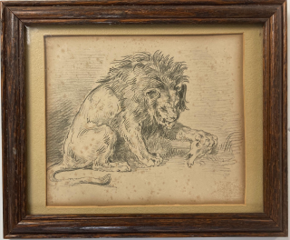 Lion. Robaut based on Delacroix