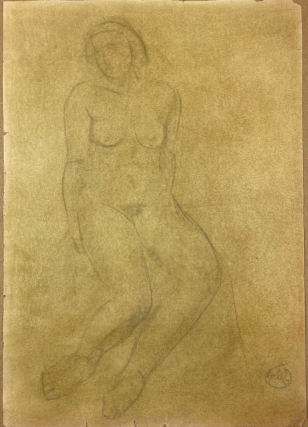 Drawing of Female Nude. Aristide Maillol