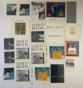 Signed Books, Catalogs, Calendars, Ephemera. Masuo Ikeda