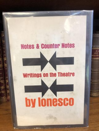 NOTES AND COUNTER NOTES. Eugène Ionesco