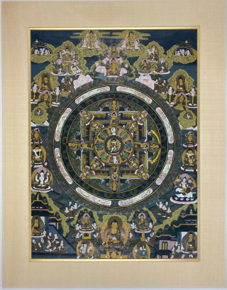 Tibetan Thangka with Mandala