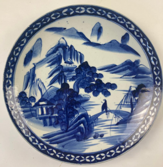 Six 19th c. Chinese blue and white chargers