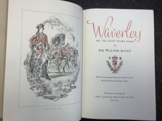 WAVERLY [SIGNED]. Sir Walter Scott, Robert Ball