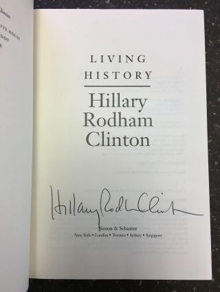 LIVING HISTORY [SIGNED]