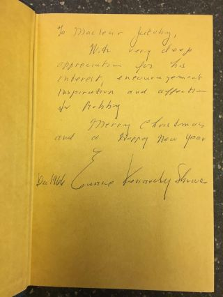 PROFILES IN COURAGE [SIGNED BY EUNICE SHRIVER]. John F. Kennedy