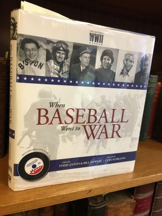 "WHEN BASEBALL WENT TO WAR [SIGNED BY JOHN ""MULE"" MILES, LOU BRISSIE, AND JERRY COLEMAN]. Todd..."