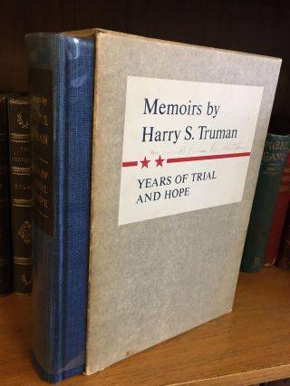 MEMOIRS - YEARS OF TRIAL AND HOPE [INSCRIBED TO FELIX FRANKFURTER]. Harry S. Truman